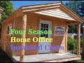Insulated Four Season Home Office Cabin Kit with electric heat
