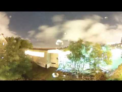 Storm night 360 time-lapse