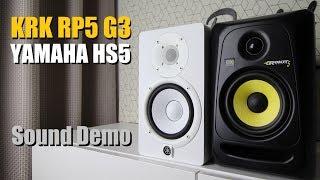 Download lagu KRK Rokit 5 RP5G3 vs Yamaha HS5 Sound Demo w Bass Test MP3