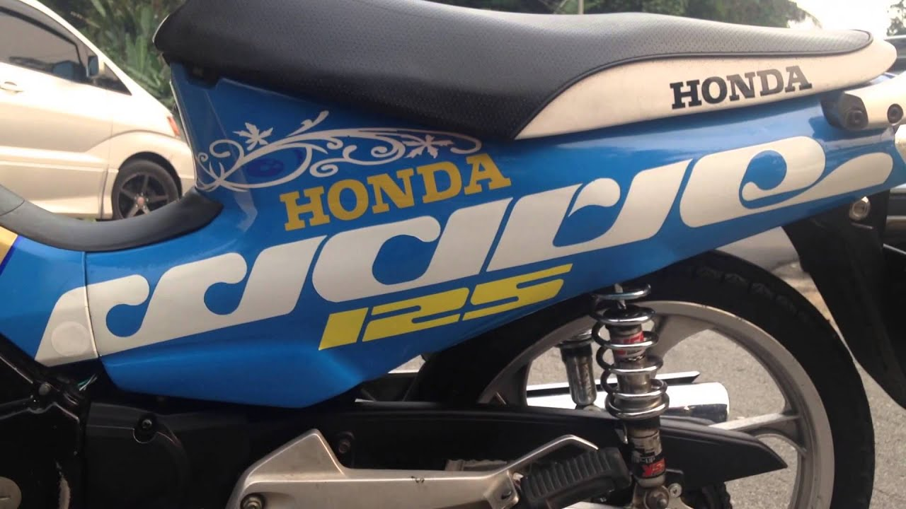 Design sticker kreatif honda wave 125
