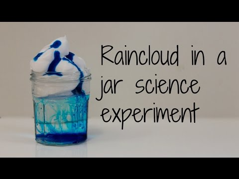 How to make a Rain cloud in a jar science experiment