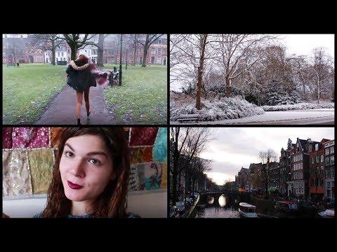 Jugando con la Nieve, Canales de Amsterdam de Noche & SinterKlaas | VLOG
