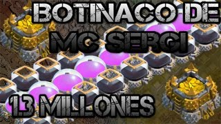BOTINACO DE MC SERGI | 1.3 MILLONES DE RECURSOS | CLASH OF CLANS |