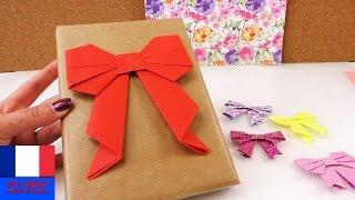 Faire soi-même un noeud origami / Pour papier cadeau / Tutoriel en français