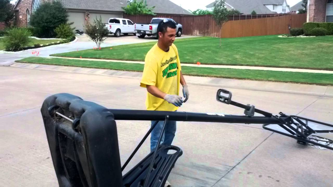 How To Remove A Basketball Goal And Haul Off In Southlake