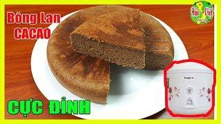 ✅ Làm Bông Lan CaCao Bằng Nối Cơm Điện Là Ngon Nhất | Hồn Việt Food