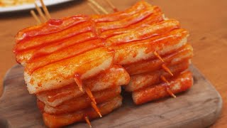 Spicy sauce rice cake Skewer :…