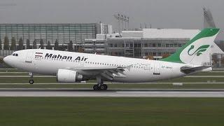 Mahan Air A310-304 EP-MHO Landing and Take Off at Munich Airport