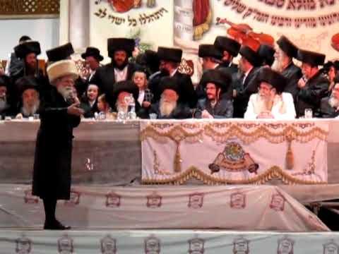Rabbi Yankel Miller At Sanz  Klausenberg Sheva Bruchus