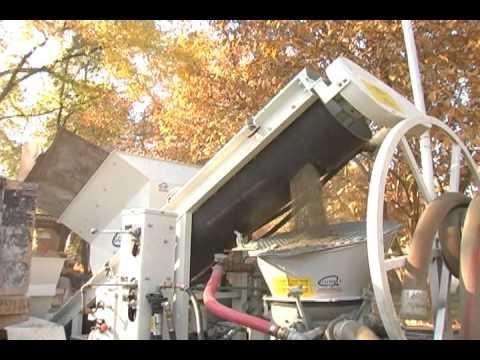 Gunite Shotcrete Dry Mix Process Mix Elvator 634 And C 10 Gunite Machine Youtube