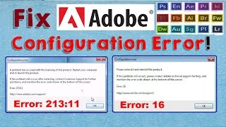 Fix Adobe Configuration Error 16 & Error 1 (Configuration Error in Adobe Products) - dreamerBros