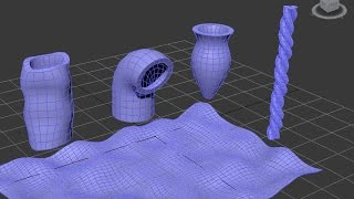 3Ds Max การใช้ FFD, Blend, Noise และ Twist