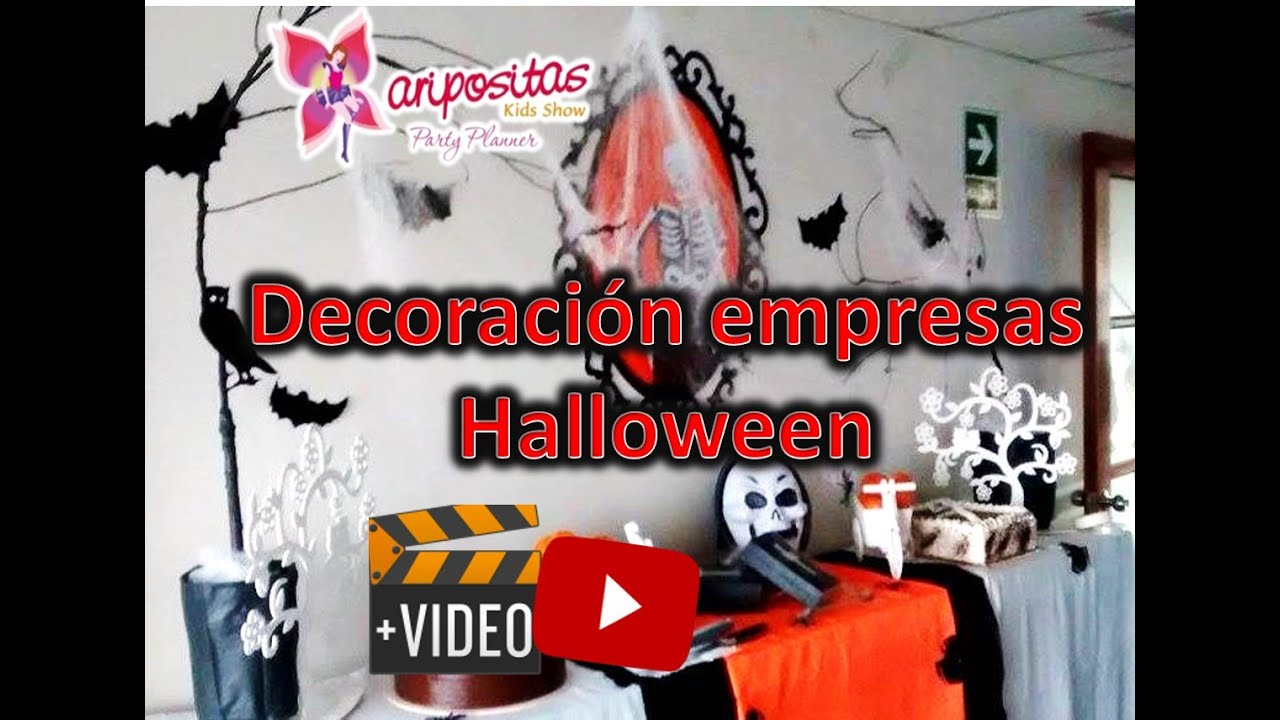 Decoracion de halloween casa oficinas empresas youtube for Decoracion de oficinas