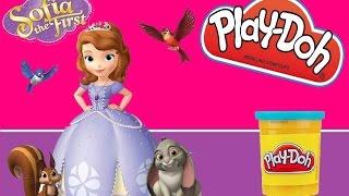 Play doh toys Disney Sofia the First PLAYDOUGH toy playset! Playdoh toy videos