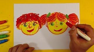 Как нарисовать ДЕТЕЙ / Урок рисования для детей от 3 лет