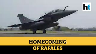 Watch: Touchdown of Rafale jets in Ambala; IAF gives water salute