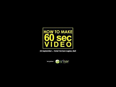 """How To Make 60 Sec Video"" With Robby Suharlim @robbiesuharlim"
