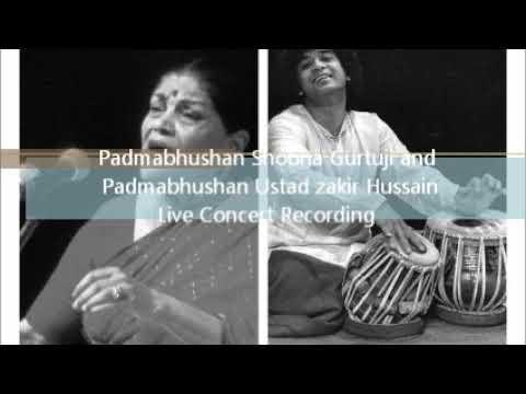 Vidushi Smt. Shobha Gurtuji and ustad Zakir Hussain ji