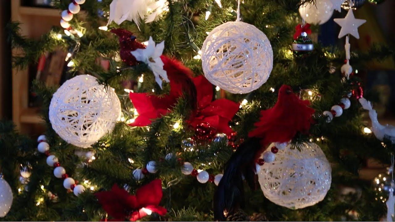 Diy christmas string art glitter ball ornaments youtube - String ornaments christmas ...