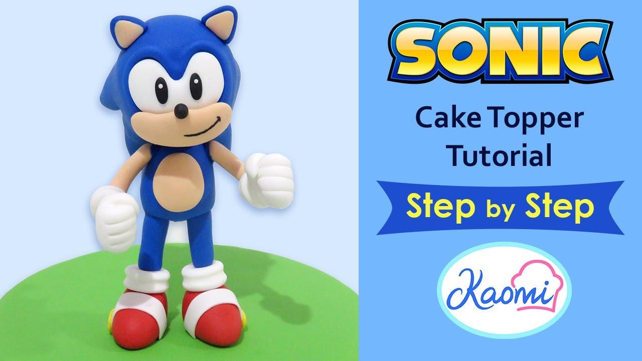 Como Hacer A Sonic Para Tortas Paso A Paso Kaomi Tutoriales Youtube