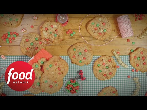 Super-Sized Holiday Monster Cookies | Food Network