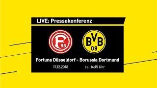 LIVE: Pressekonferenz vor Fortuna Düsseldorf