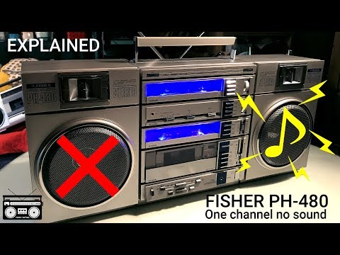 FISHER PH-480 Boombox One Channel No Sound Issue Fixed