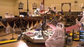 Mars InSight Lander Solar Array Test at Lockheed Martin