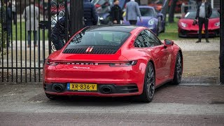 Brand New Porsche 992 Carrera S Driving on the Road - Start Up, Revs & Accelerations !