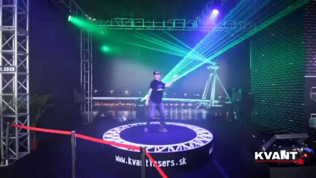 Interaktive Lasershow by Kvant Laser 2
