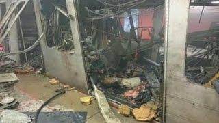 Теракты в Бельгии Брюссель Взрыв в Аэропорте и Взрыв в метро - десятки жертв.