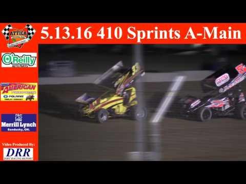 5.13.16 Attica Raceway Park 410 Sprints A-Main