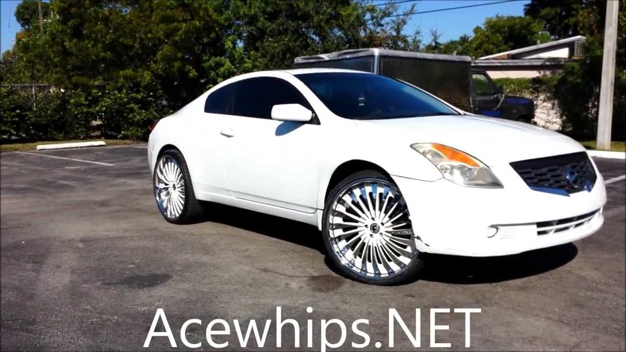 Acewhips.NET- Female's White Nissan Altima Coupe on 24 ...