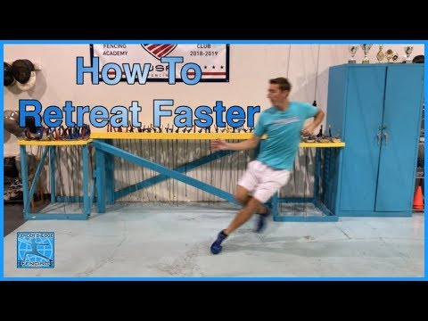 Fencing Footwork - How To Retreat Faster