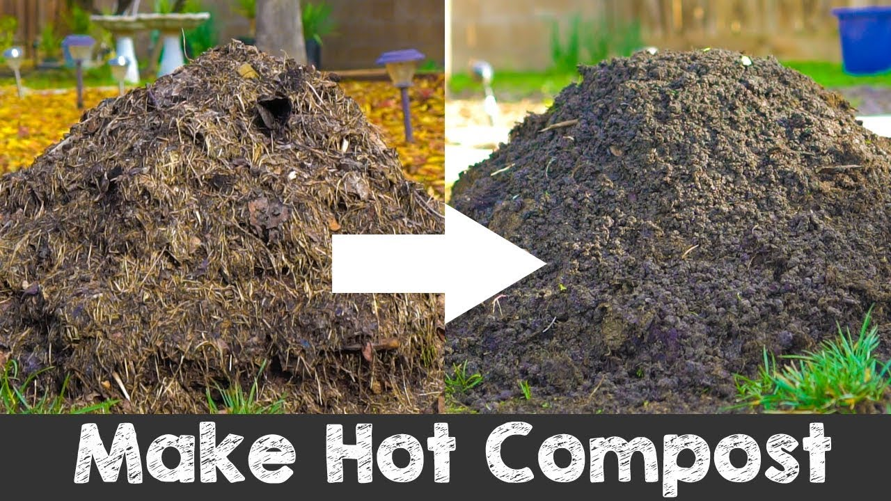How To Make Hot Compost Complete Guide Youtube
