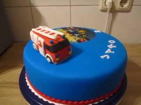 Feuerwehrmann Sam Torte Fondant Torte Feuerwehr Geburtstag Youtube