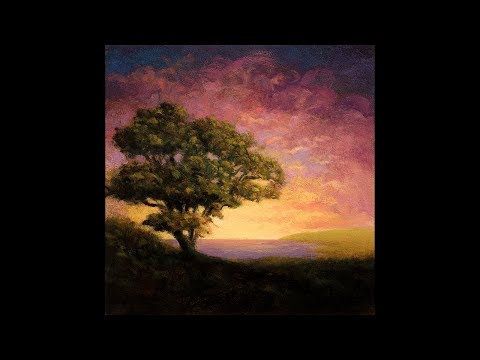 Afternoon Glow 8×8 Redo Tonalist Landscape Oil Painting Demonstration