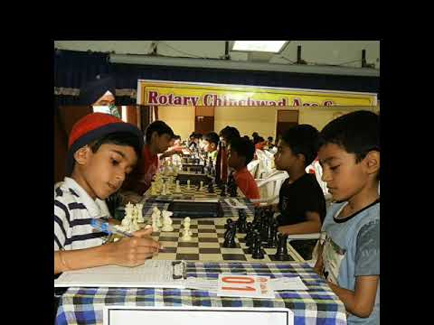 Sweet moment of 12 th Rotary Chinchwad Age group Chess Championship 2017