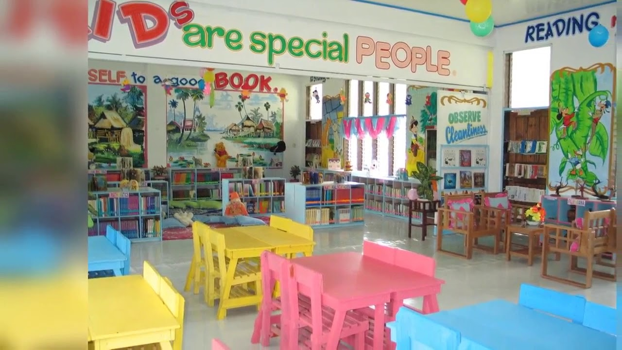 Elementary school library decorations library ideas - YouTube