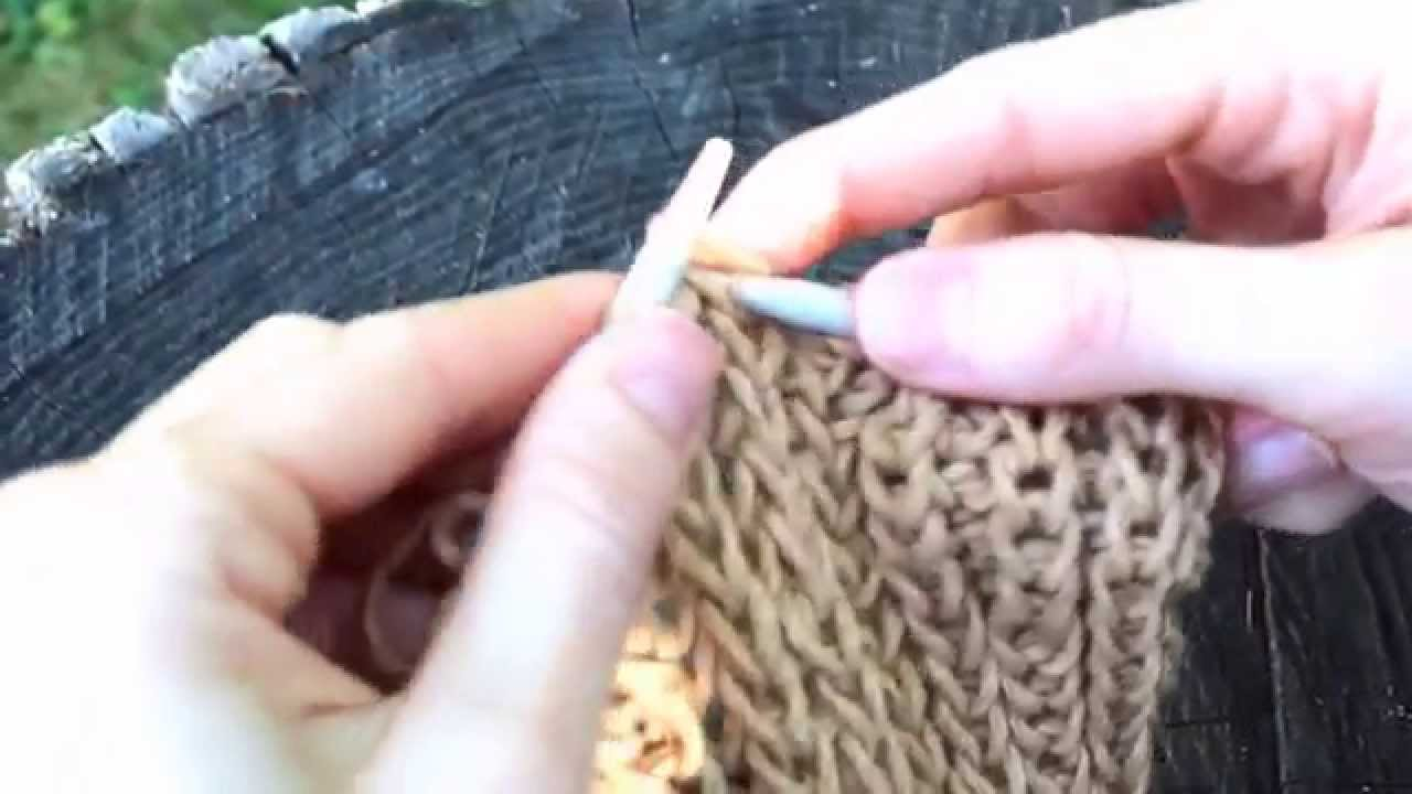 Fisherman\'s Rib Knit Pattern for the Multi Wear Neck Warmer - YouTube