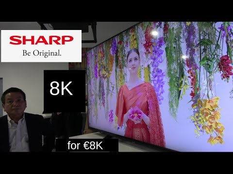 70″ Sharp 8K TV launched for €8000, Sharp is back