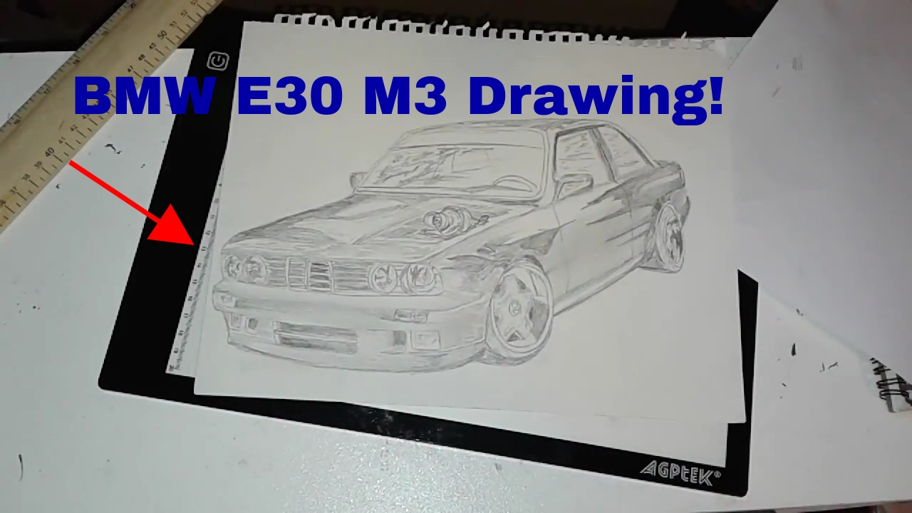 Bmw E30 M3 Time Lapse Drawing Youtube