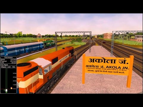 Pune Amravati Express Part 1 in MSTS Open Rails by Sumit Mehrotra