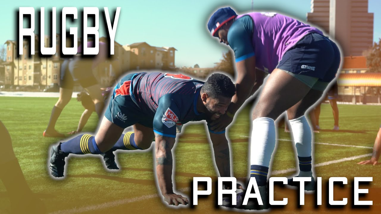 Pro Rugby Practice Passing With Speed -Minor Injury?