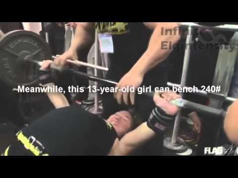 Vegan Guy Bench Presses Less than a Teenage Girl