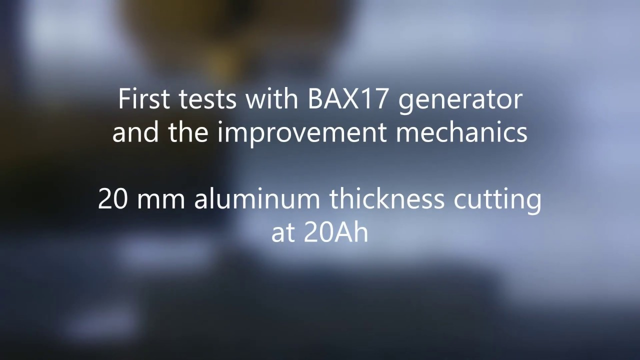 BAXEDM, BX17 wire EDM arc generator first test with mechanical improvement