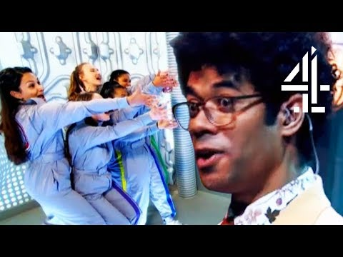 Richard Ayoade Can't Deal With Incredibly Upbeat Cheerleaders #TeamRichard | The Crystal Maze
