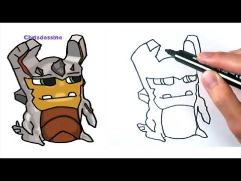 Como Dibujar La Babosa Elemental De Tierra How To Draw An