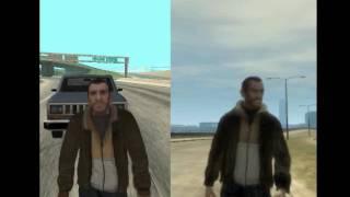 GTA sa vs GTA IV (bike crash)