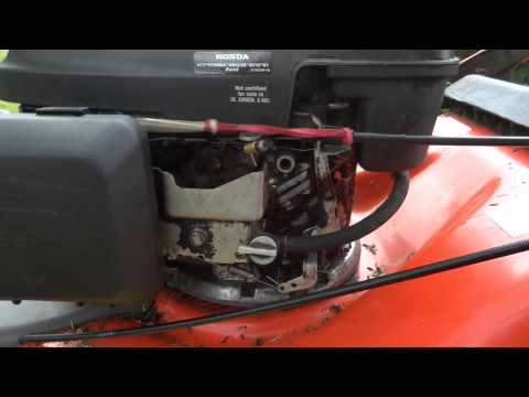 Surging Problem On A Husqvarna R 53SV Self Propelled Lawn Mower With Honda GCV160 Engine